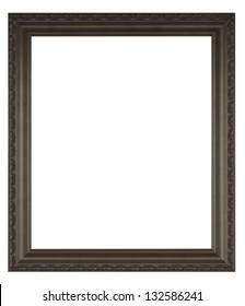 Black frame isolated on a white background.