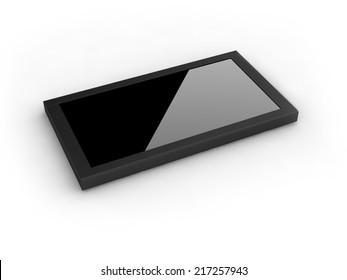 black frame on white background.