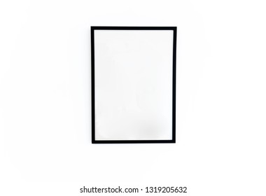 Black frame on white wall