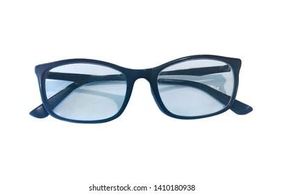 Black frame sunglasses isolated on white background