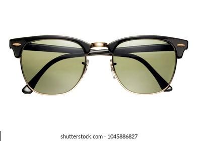 black frame wayfarer style sunglasses