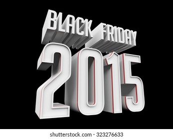 Black Friday 2015 on black background