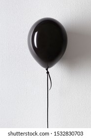 Black friday balloon with copy space for advertisement on white background