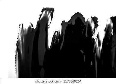 black friday beautiful paint brush  spot stroke on isolated white background