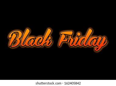 Black Friday dark orange background
