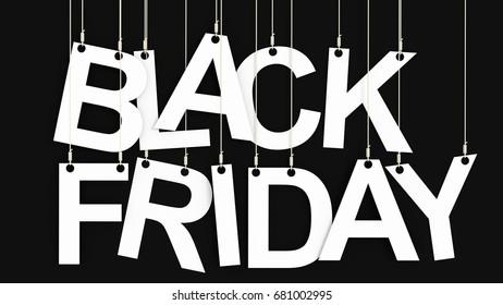Black Friday discount 3d rendering