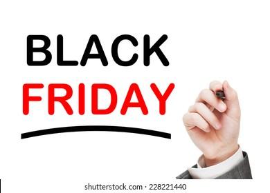 Black Friday isolated on white background