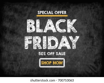 Black Friday sale. Black board with texture, background