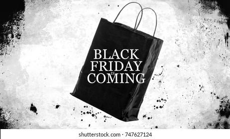 Black Friday Shopping Sales Bag - Graphic Mockup