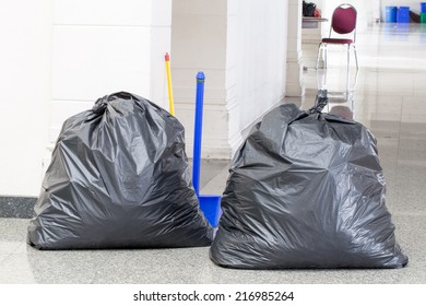 Black garbage bags