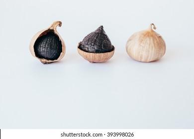 Black garlic.