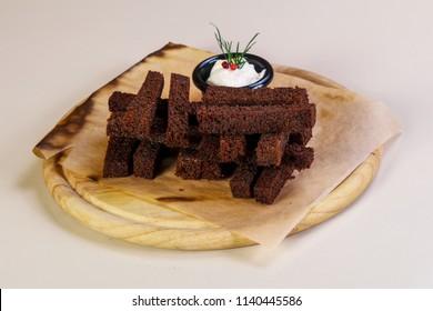 Black garlic bread snack