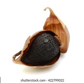 Black Garlic isolated on white background