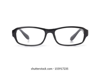 3e273b8258 Black Optical Glasses On White Background Stock Vector (Royalty Free ...