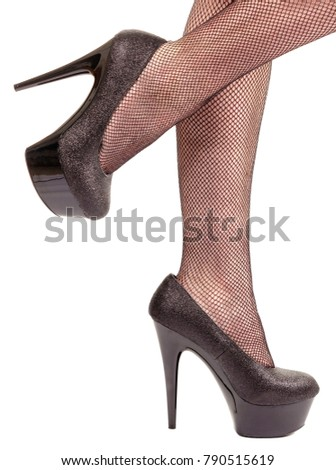 Apologise, but white black stockings stilettos for that