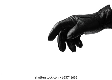 Black glove on isolated white background