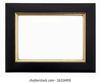 Black & Gold Wooden Rectangular Picture Frame