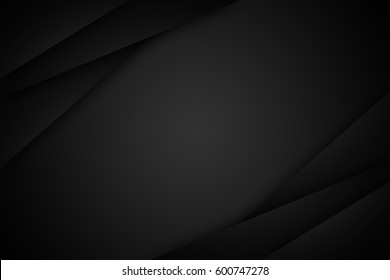 black gradient radial blur blackground, blank space for text.