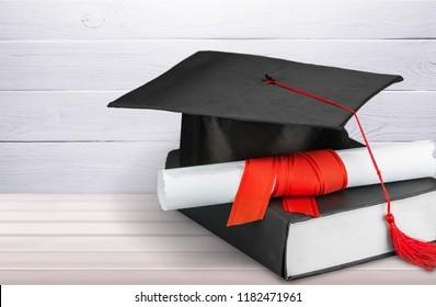 Black Graduation Cap with Degree
