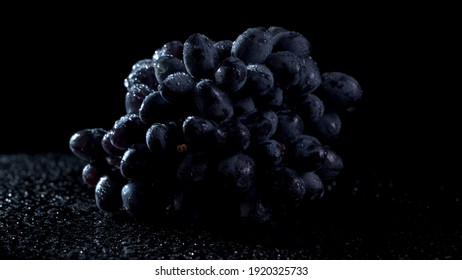 Black grapes with isolated background