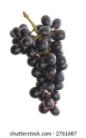 black grapes on light box