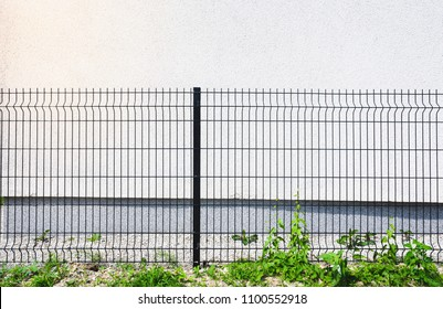 black grating wire industrial fence panels, pvc metal fence panel