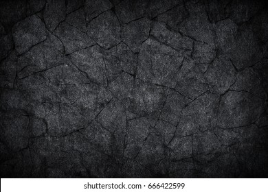 black gray dark slate stone crack background or texture