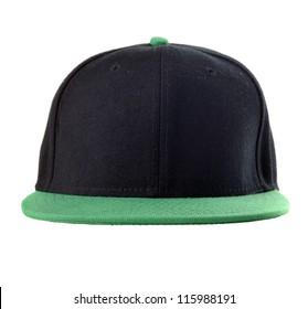 Black and green baseball cap