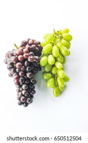 Black and green grape isolated on white background
