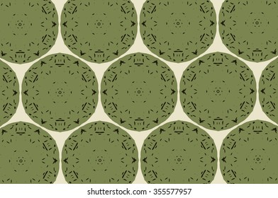 Black and green patterns on a light background. 3
