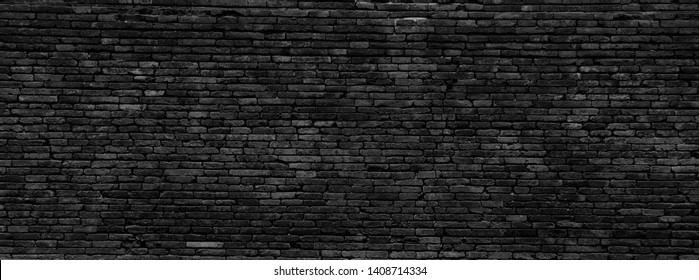 Black and Grey dirty Brick work old wall from old  building  architecture Damaged horizontal for background texture wallpaper