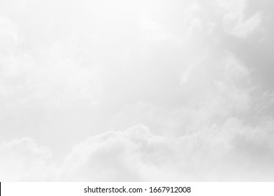 black grey Sky with white cloud and clear abstract . Blackdrop for wallpaper backdrop background.