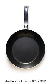 Black griddle on a white background