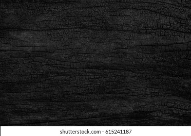 Black grunge background. Burned wood texture.