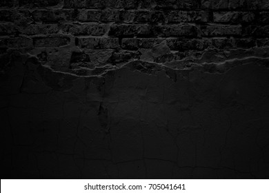 Black grunge background. Old surface. Wall texture. Industrial wall