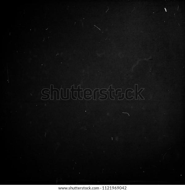 Black grunge scratched texture background, old film effect