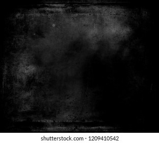 Black grunge texture background with frame and space fot your text or image