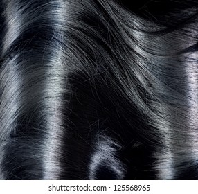 Black Hair Background. Long Dark Hair Texture