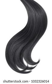 Black hair isolated