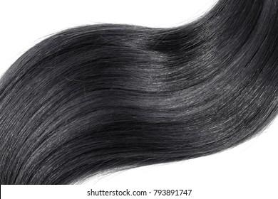 Black hair on white background