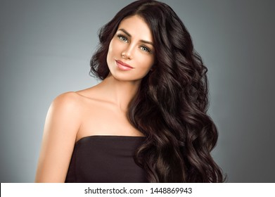 Black hair woman long hair beauty concept