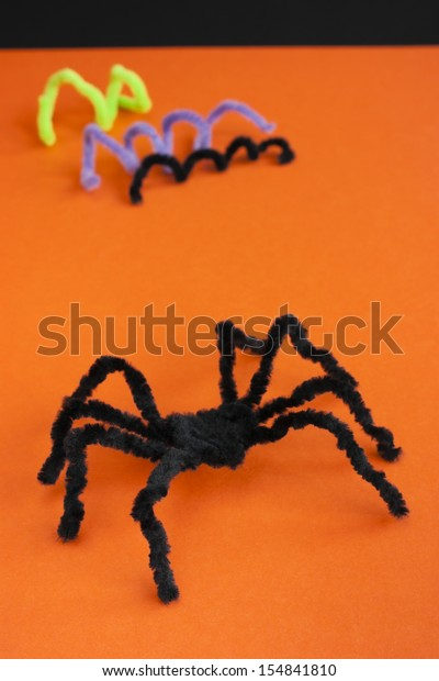 Black Hairy Spider Made Pipe Cleaners Stock Photo Edit Now