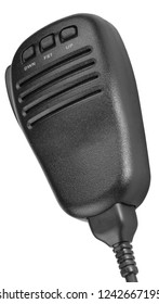 black handheld dynamic microphone for radiocommunication