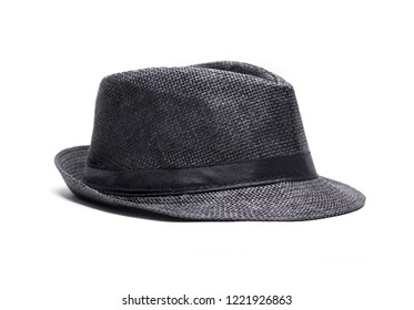 Black hat isolated on a white background