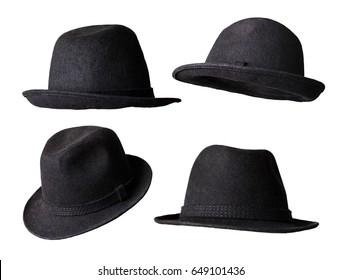 black hat isolated white background