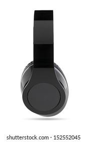Black headphone with black center