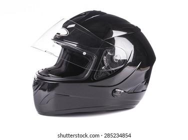 Black helmet Isolated on white background