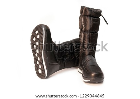 cdc32f4b55 Black High Boots Young Girls On Stock Photo (Edit Now) 1229044645 ...
