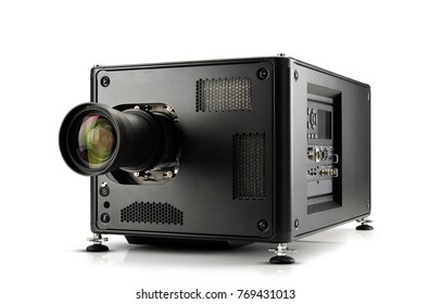 black high definition projector