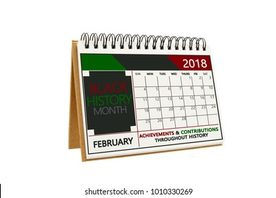 Black History Calendar February 2018
